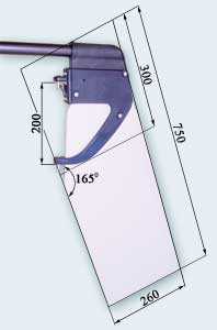 Dotan rudder 100% compliance with Optimist Class Dimensions Rules